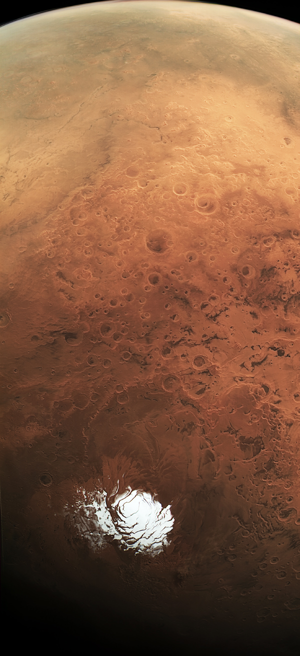 Mars Express - Summer in the southern hemisphere of Mars