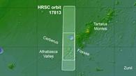 Die Region Cerberus Fossae in der Elysium%2dEbene