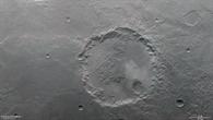 Anaglyphenbild des Kraters in der südlichen Hochlandregion Margaritifer Terra