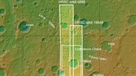 Topographische Übersichtskarte der Grenzregion Region zwischen Margaritifer Terra und Noachis Terra