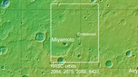 Topographische Übersichtskarte von Meridiani Planum