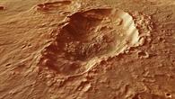 Triple crater in the Terra Sirenum region