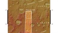 Topographische Übersichtskarte eines Teils der Region Terra Sirenum