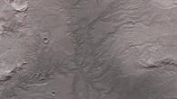 3D%2dAnsicht eines Talnetzwerks östlich des Kraters Huygens