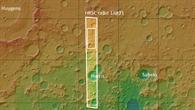 Topographische Übersichtskarte der Umgebung des Talnetzwerks östlich des Huygens%2dKraters