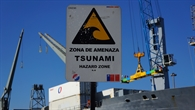 Tsunami%2dWarnschild in Chile