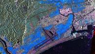 Der überflutete Higashi%2dMatsushima%2dFlughafen bei Sendai