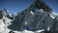 Aufstiegsroute zu den Lagern I und II