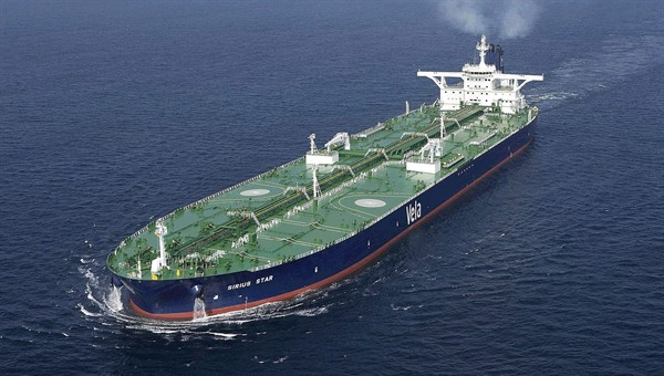 "Oil tanker ""Sirius Star"", owned and operated by Vela International Marine Ltd."