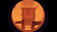 Detailansicht einer gläsernen Brennstoffzelle
