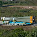 Soyuz VS03 being rolled out to the launch complex