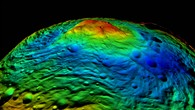 The Rheasilvia impact basin on Vesta's south pole