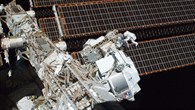 Astronauts Greg Chamitoff and Andrew Feustel install AMS%2d02