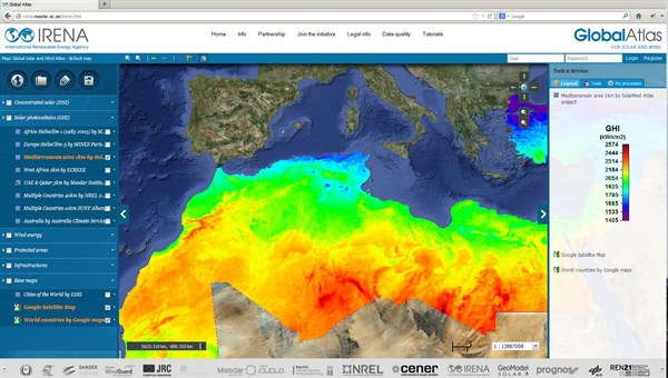 Global Online Atlas For Solar And Wind Power - Online atlas