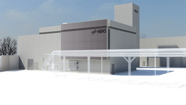 Illustration of the high pressure combustor test facility, HBK5.