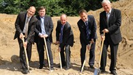 Breaking ground for the new test facility