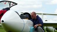 Vorbereitungen vor einem Segelflug
