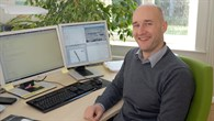 Kai Wicke an seinem Arbeitsplatz