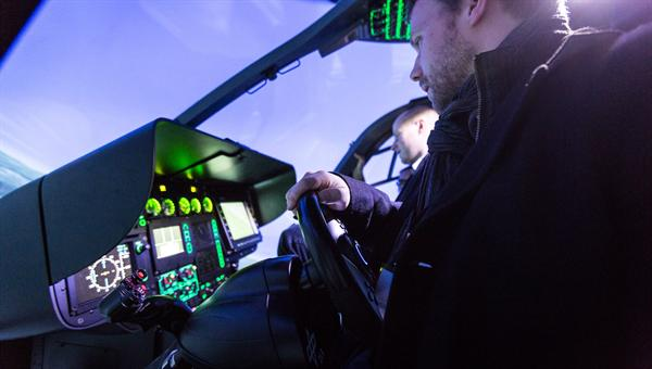 Probeflug mit dem neuen Lenkrad für Hubschrauber