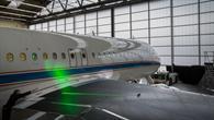 Lasermessungen über der Tragfläche des ATRA