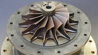 Blick ins Innere einer Mikrogasturbine