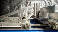 Pfahlcrash: Der Impaktor (Hindernis) trifft seitlich auf die SLRV%2dKarosserie