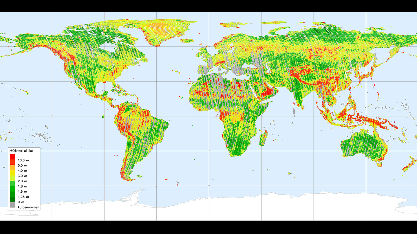 A Step Closer To Mapping The Earth In D - Ground elevation map