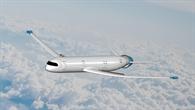 Das Flugzeugkonzept 'eRay' des siegreichen Teams der TU%2dMünchen.^