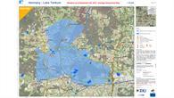 Hochwasser%2dMaske für die Katastrophensimulation