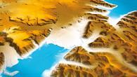 TanDEM-X-Höhenmodell von Gletschern in Spitzbergen
