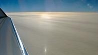 Wolken die durch aufsteigende Luftmassen über dem Atlantik entstehen