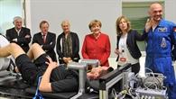 Bundeskanzlerin Merkel besucht DLR und ESA in Köln