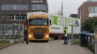 Anlieferung des Gewächshaus%2dContainers am DLR%2dStandort Bremen
