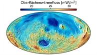 Wärmeflusskarte für den Mars