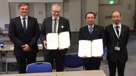 Unterzeichnung des Abkommens im Bereich Elektrisches Fliegen