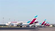 Flugzeuge der Eurowings auf dem Vorfeld
