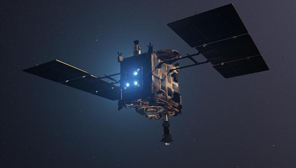 Raumsonde Hayabusa2 mit Ionen-Triebwerken