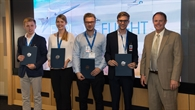 Das deutsche Siegerteam der TU%2dMünchen bei der Preisverleihung