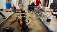 Testaufbau des HP3%2dExperiments am DLR in Bremen