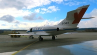 DLR%2dForschungsflugzeug Falcon im Hangar am Standort Oberpfaffenhofen