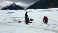 Gletschervermessung vor Ort