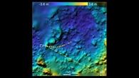 MASCOTs Abstieg und Weg über die Oberfläche von Ryugu