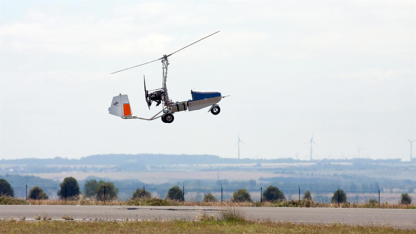 DLR conducts flight tests for gyrocopter drones