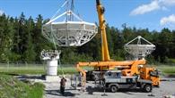 Aufbau der EDRS%2dHauptantennen in Weilheim