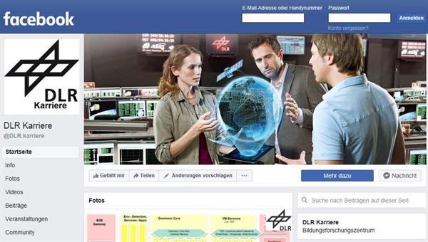 DLR Karriere: auf Facebook, LinkedIn und XING