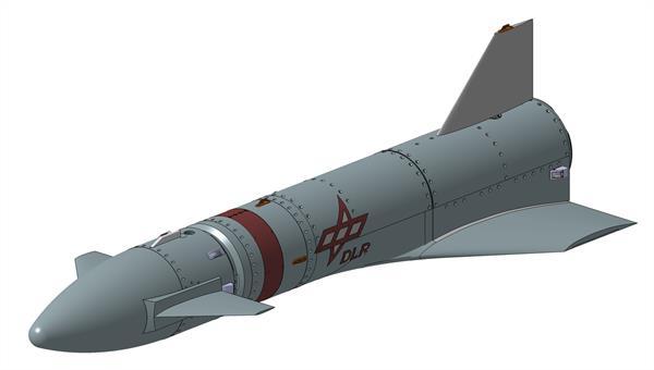 Metallische Flugkörperstruktur des Rückführungsexperiments REFEX