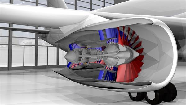 Triebwerksmodell aus DLR%2dVorentwurfsumgebung (Quelle: AT%2dTWK)