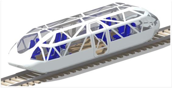 Beispielhaftes Schienenshuttle (Copyright: DLR)
