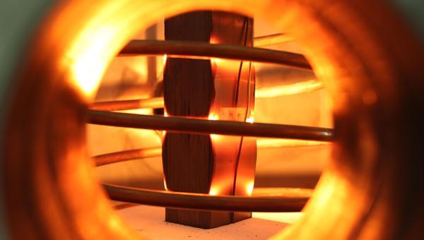 Induktive Erwärmung einer quaderförmigen Probe