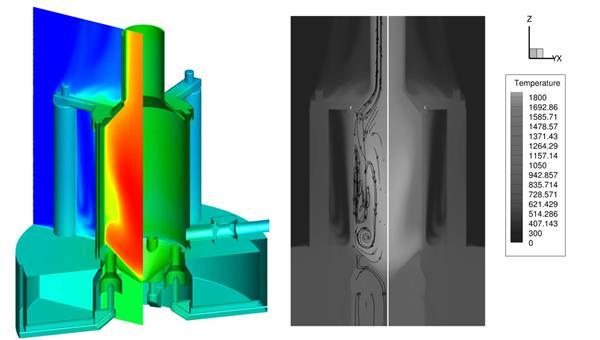 Voll gekoppelte CFD Simulation einer atmosphärisch betriebenen Brennkammer